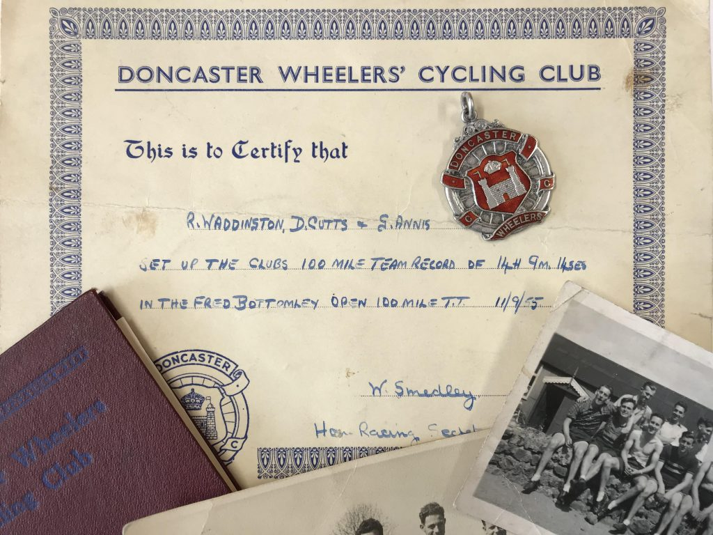 Doncaster Wheelers Memorabilia Courtesy of D. Cutts.