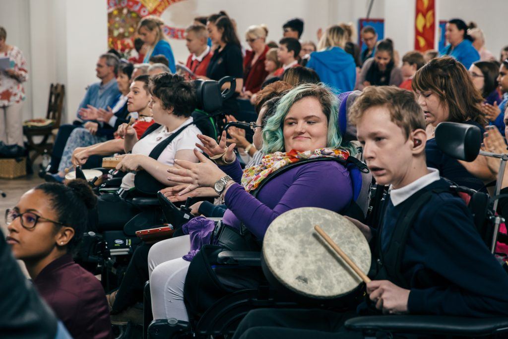 Children and young people with disabilities take part in We Speak Music run by darts in Doncaster