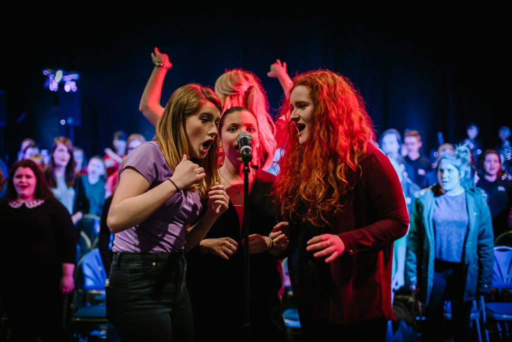 Swag Choir - Young women singing at The Dome in Doncaster