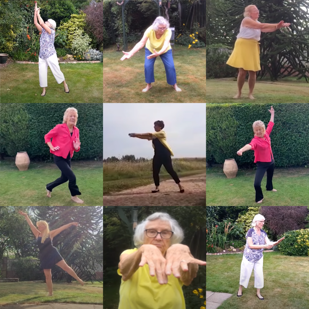 6 women from darts' Dance On sessions dancing at home